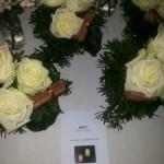 menukaart en bloemstukjes